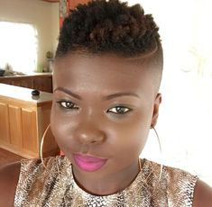 Stylish Short Fade Haircut For Women 25 Protective Hairstyles, Mohawk Hairstyles, My Hairstyle, Hairstyle Ideas, Short Fade Haircut, Short Hair Cuts, Pelo Mohawk, Short Natural Styles, Short Styles