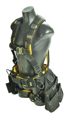 Guardian's, Cyclone Construction Harness, has everything a worker wants in a fall protection harness. All of the bells a whistles, but with leg padding and an x back padding, and lightweight. Harness Land is your source for safety! Fall Protection Harness, Carpenter Tools, Dewalt Tools, 3d Modelle, Construction Tools, Tool Belt, Wood Tools, Tools And Equipment, Tool Storage