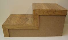 #Escalera de muestra de #parquet laminado canto visto con el mismo material
