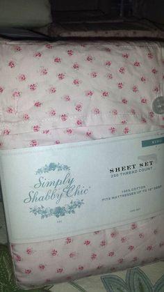 simply shabby chic rose bud vintage crisp percale 100 cotton cottage sheet set