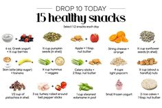 Drop 10 TODAY snack list