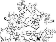 Dibujo para colorear de perros (nº 11)