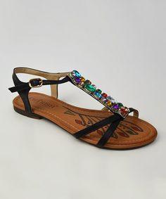 Loving this Black Jewel Briana T-Strap Sandal on #zulily! #zulilyfinds