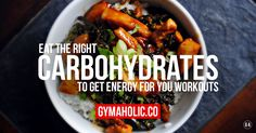 The energy you need during your workout is provided by carbohydrates. If you want to build muscle or lose fat, the carbs are the ones you want to change. Healthy Food Quotes, Healthy Diet Tips, Healthy Cooking, Whole Food Diet, Whole Food Recipes, Good Carbs, Post Workout Snacks, Sports Food, Low Carbohydrate Diet
