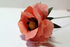 Build a Bouquet Wild Rose from the Stampin' Up! Build a Bouquet Kit www.robynsroost.stampinup.net #paperflowers