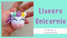 Llavero de Unicornio a crochet / Aprende a tejer tu llavero de unicornio - YouTube Crochet Gratis, Crochet Dolls, Free Crochet, Crochet Case, Crochet Stitches, Crochet Keychain, Crochet Earrings, Amigurumi Patterns, Crochet Patterns