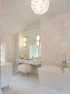 Floating Make Up Vanity Contemporary Bathroom Susan Glick Interiors