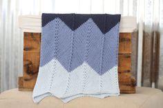 Blue Cotton Chevron Knit Baby Blanket/ Stroller Blanket/ Chevron Blanket/ Knit Blanket/ Boy Baby Blanket/ Cotton Baby Blanket/ Baby Gift by RycesPiecesKnits on Etsy https://www.etsy.com/listing/247512167/blue-cotton-chevron-knit-baby-blanket