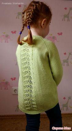 Пуловер с ажурными рукавами по мотивам