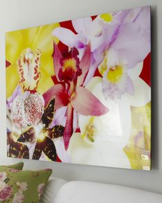 """Shop """"Orchadia"""" Print from Rosenbaum Fine Art at Horchow, where you'll find new lower shipping on hundreds of home furnishings and gifts. New Artists, Abstract Wall Art, Wall Art Decor, Wall Decorations, Art World, Flower Prints, Home Art, Flower Power, Framed Art"""
