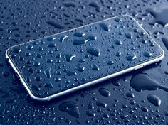 Phone Water Drops
