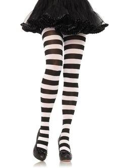 0893d104b6f31 Leg Avenue - Wide Stripe Opaque Tights Lolita Goth, Wide Stripes, Striped  Tights,