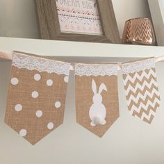 Printable Easter bunting now available for instant download. Why not add some Pom poms for a super cute touch set up two to a page for ease of printing