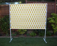 pvc back drop for photo booth.  Easy to do.