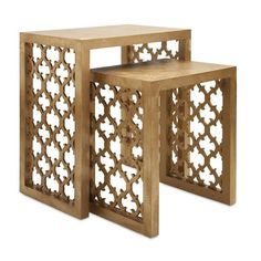 Imax Worldwide 47564-2 Canaberra Nesting Tables - Set of 2