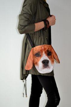 Torebka listonoszka z psem Beagle