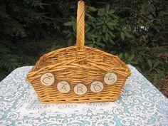 Rustic Wedding Decor Large Card Basket. $29.95, via Etsy.