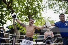 Prisoner has won the fight. Photo by Jonas Gratzer International Teams, Prisoner, Muay Thai, Boxing, Martial Arts, Charity, Thailand, Kicks, Martial Art