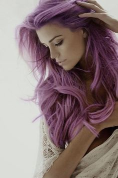 Purple Hair Obsession! Call me crazy, but I want this color SO bad. My husband says no way! lol