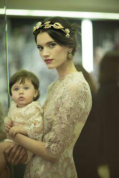 Dolce & Gabbana Fall/Winter 2015 Trunkshow Backstage on Moda Operandi