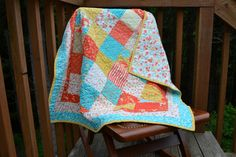 https://www.etsy.com/treasury/Mjg5NDQ5ODl8MjcyMjM3NTI1Nw/turquoise-and-black LOVELY Handmade Baby Girl Quilt perfect for Crib by BundledUpLove, $115.00