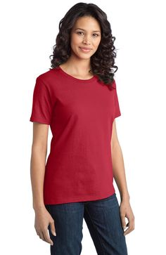 Ladies T-Shirt, Ring Spun Cotton  #logo #embroidered #embroidery #custom #screen #jackets #printed #apron #clothing #personalized