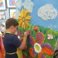 Using different media can emphasise the objects such as flower in the garden or clouds in the sky.