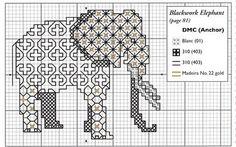 elephant BLACKWORK-esquemas (pág. 72) | Aprender manualidades es facilisimo.com