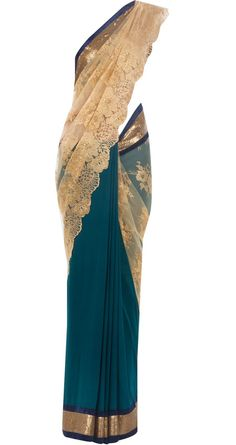 Been seeing a lot of this lately....sari solid & net material mixed. Love the colors