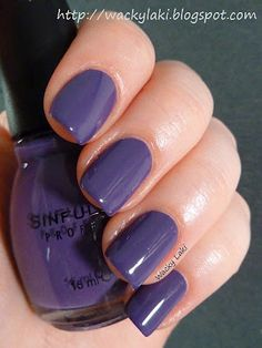 (Sinful Colors Amethyst) I see this color in my future very soon...