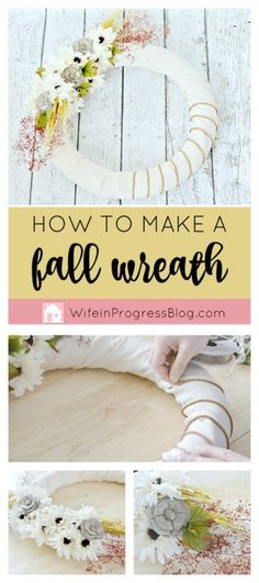 This pretty burlap fall wreath is so simple to make and will add instant charm to your fall decor!