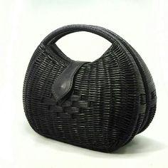 Black Rattan Bag