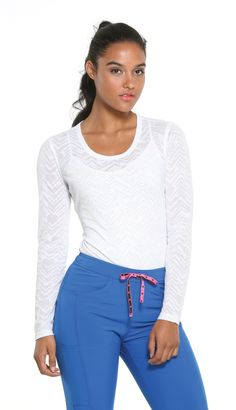ffa8a05797e After your Heart a long sleeve knit tee in White. #loveheartsoulscrubs  Cheap T Shirts