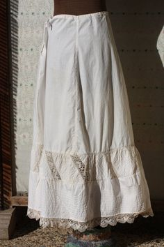 HOORAY NEW LISTING Antique calico petticoat by oceannegypsyvintage, $60.00