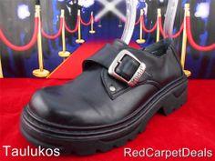 Womens shoes MUDD Schoolgirl Oxfords Monk Strap Black Buckle Grunge Goth 6.5 M