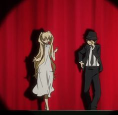 Blood Blockade Battlefront Tumblr - . . . This gif is so cute awesome and creepy wow! . . . It's C-aw-p-ow!//shot