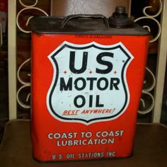 Vintage US Motor Oil can