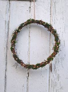 Moss Vine Wreath , easter gift, rustic wedding, wedding decoration, natural wreath, dried flowers, country wedding, woodland wedding by BellaPoppyFlowerArt on Etsy