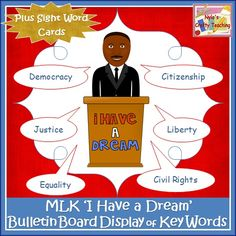 Brighten up your classroom with this #MLK Bulletin Board Set which features the key words found in Rev. Martin Luther King Jr.'s 'I Have a Dream' speech. $