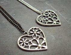 Flower Heart Summer Necklace  Festival Necklace  by GrungeForever