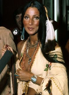 The ever so beautiful Cher, in her Native clothing; 1965. #Cher