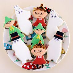 Moomin Cookies. http://ifeelcook.es/moomin-cookies-moomin-amigurumi/