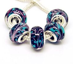 20 hand painted glass murano beads by Ellasmysticalgifts on Etsy