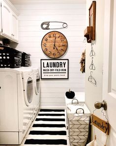 Well we have returned from some Labor Day weekend fun and now it's back to actually laboring. 🤪 I will be spending some time in here this… Pantry Laundry Room, Laundry Room Design, Laundry Rooms, Interior Color Schemes, White Interior Design, Labour Day Weekend, Weekend Fun, Laundry Room Inspiration, Storage Design