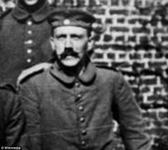 Preference: Hitler, pictured as a young soldier, had favoured a longer moustache prior to the outbreak of the First World War