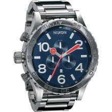 Nixon 51-30 Chrono Watch - Men's Navy, One Size $336.50