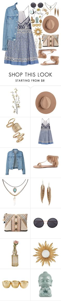 """""""Sweet Spring Dresses"""" by nvoyce ❤ liked on Polyvore featuring Pier 1 Imports, Calypso Private Label, Topshop, Chloé, Qupid, Accessorize, Roberto Cavalli, BLANK, Linda Farrow and Cultural Intrigue"""