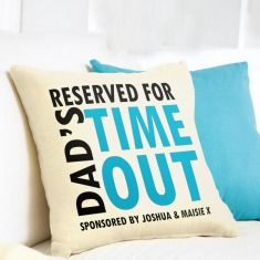 Personalised Dad's Time Out Velveteen Cushion