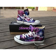 Galaxy Hand Painted Converse Shoes High Top Fashion Sneaker