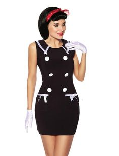 Navy dress - Rockabilly Clothing - Shop for Rockabillies and Rockabellas